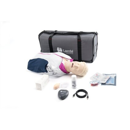 Resusci Anne QCPR AED Airway Head Torso with Carry Bag